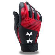Gant de Batting Under Armour Clean-Up VI Noir Rouge pour le Baseball et Softball taille - XXL