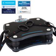 Home Vibration Plate 500 - Plateforme vibrante oscillante de salon avec télécommande - Noire