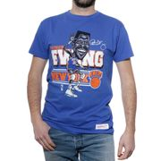 Caricature N.Y. Knicks Homme Tee-Shirt Basketball Bleu Mitchell & Ness