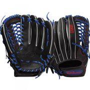 Gant de Baseball Wilson Bandit 12.5 noir et bleu Main-Pied - Droitier, Taille Gant - 12.5