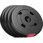 Poids disques en plastique 5kg (4x1,25 kg) Hop-Sport