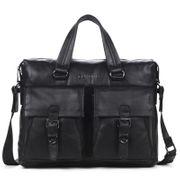 Sac à dos homme- Hommes d'affaires Porte-documents en cuir véritable grande capacité hommes sac à main Mode Hommes Sacs Double Sac Messenger Bag Homme