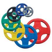 Disques Body-Solid olympiques 4 Grip en caoutchouc coloré 5 kg