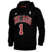 Sweat Capuche ADIDAS NBA Chicago Bulls D-Rose Noir