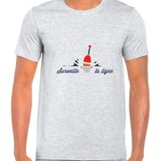 T Shirt Col Rond Imprime Surveille ta ligne