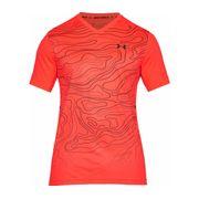 Under Armour - Forge V Neck Novelty Hommes Tennis T-shirt (rouge/noir)