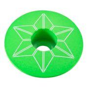Bouchon de potence Supacaz Star Plugz Powder Coated vert fluo