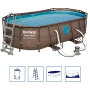 Bestway Ensemble de piscine Power Steel Swim Vista Series Ovale 56714