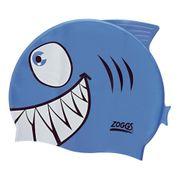 Bonnet de natation Junior Character Silicone bleu blanc enfant
