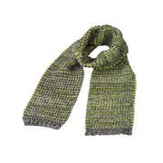 Longue écharpe tricotée - MB7972- jaune acide - chiné
