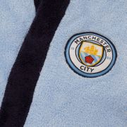 Manchester City FC officiel - Robe de chambre à capuche thème football - polaire - garçon