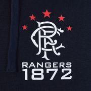 Rangers FC officiel - Pull zippé à capuche thème football - polaire - homme