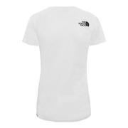 T-shirt à manches courtes The North Face Easy blanc noir femme