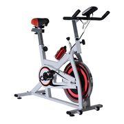 Ultrasport vélo d'appartement exercice vélo en acier avec écran led cardio sport charge max 100kg blanc 21