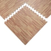Tapis interconnectables en mousse 62 cm x 62 cm x 13 mm avec bordures tapis puzzle 25 pièces 9,3 m² de surface imitation parquet en bois neuf 11