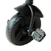 Tricycle enfants multi-équipé garde-boue sonnette pédales antidérapantes siège avec dossier noir neuf 24BK