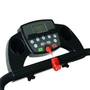 Tapis roulant électrique de course tapis de course pliant 440 W 1-10 Km/H écran LCD multifonctions support iPad acier noir argent neuf 17SR