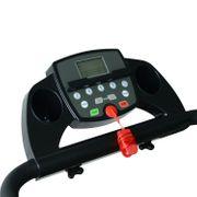 Tapis roulant électrique de course tapis de course pliant 440 W 1-10 Km/H écran LCD multifonctions support iPad acier noir neuf 17BK