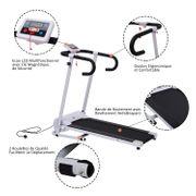 Tapis roulant électrique de course pliable 500 W 1-10 Km/H écran LCD multifonctions acier noir et blanc neuf 01WT