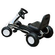 Vélo et véhicule pour enfants kart à pédales avec frein à main acier plastique blanc et noir neuf 04