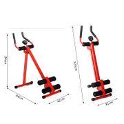 Appareil de Fitness et musculation pour abdominaux écran multifonctions intégré pliable 5 niveaux de résistance réglable rouge noir neuf 33