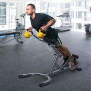 Appareil à abdominaux vertical équipement de Fitness hauteur réglable acier gris noir 58