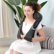 Appareil de massage Shiatsu épaules-cou 100L x 58l x 15H cm chauffage infrarouge 3 intensités noir gris 82
