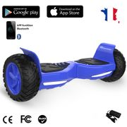 EVERCROSS Hoverboard Bluetooth 8.5 pouces,  Gyropode Overboard Fontion Application, SUV Hummer Tout Terrain, Bleu