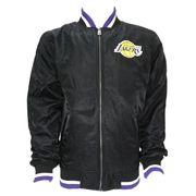 Bomber NBA Los Angeles Lakers New Era Team Apparel Varsity Noir pour Homme taille - L