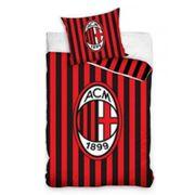 Housse de couette Milan AC Officiel 140 x 200 cm - unique rouge