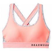 Under Armour - Armour Mid Crossback Print Femmes brassiere (rose)