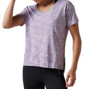 Reebok Elements Marble Womens Ladies Fitness T-Shirt Purple - UK 8-10