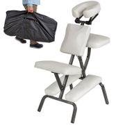 Chaise de massage rembourrage épais blanche + Housse Helloshop26 2008066