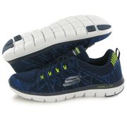 Skechers Flex Advantage 2.0 bleu, chaussures de training / fitness homme