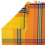 Drap de plage Fouta 100x180 cm 100% coton 270 g/m² VALLEVO Dégradé avec liserés Orange
