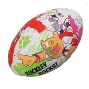 Ballon rugby Mascottes Gilbert Ruckley Rocks (taille 4)