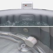 Spa 205 cm 6 personnes gonflable rond- Silver cloud 6 Lite gris - Jacuzzi Ø 205cm, PVC, pompe, chauffage, filtre, bâche
