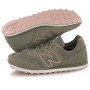 Chaussures New Balance WL 373 vert kaki femme