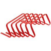 Precision Football Fitness Training Agility Flat Hurdles 9'' Red (Set of 6)