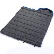 Thurso - Sac de couchage couverture synthétique - 210 x 80 cm -jumelable - bleu/noir  - Zip Gauche