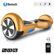 Hoverboard 6.5 Pouces avec Bluetooth, Gyropode Overboard Skateboard Smart Scooter, Jaune