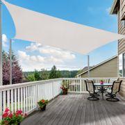 Voile d'ombrage rectangulaire 6L x 4l m polyester imperméabilisé haute densité 160 g/m² crème