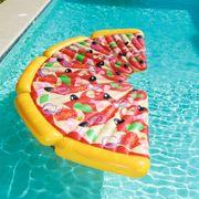 Bestway Chaise longue gonflable flottante Pizza Party 188 x 130 cm