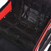 vidaXL Remorque de vélo pour enfants rouge et noire 30 kg