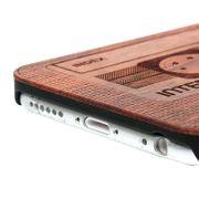 Housse coque de protection -Casette Sculpté Motif & bois de rose Patch coque de Protection pour iPhone 6 & 6