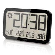 Horloge Murale Jumbo avec prévisions météo (Noir)