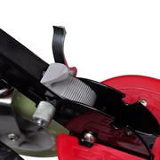 vidaXL Trottinette électrique rouge et noire 120W avec selle