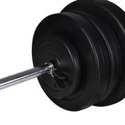vidaXL Kit de barre d'haltère et 2 haltères 605kg