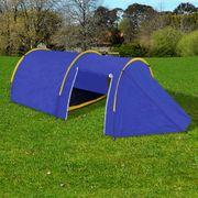 vidaXL Tente de camping pour 4 personnes Bleu marine/jaune