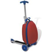 vidaXL Trottinette rouge pour enfant avec valise à l'avant